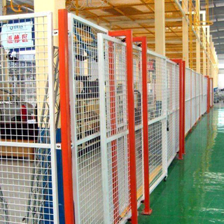 workshop fence for security and anti-climb isolation the person and machine